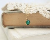 forest - simple vintage swarovski necklace