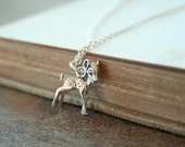 SALE 20% off A Deer in the Forest - A Sterling Silver Necklace