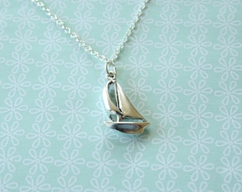 The Sterling Silver Sailboat Necklace - simple everyday nautical jewelry