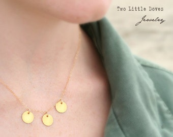 The Dance - A gold vermeil elegant simple everyday necklace
