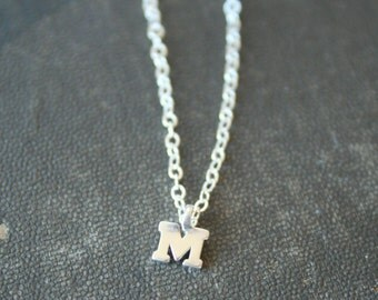 Mini CUSTOM Sterling Initial Bracelet - simple everyday delicate bridesmaid jewelry