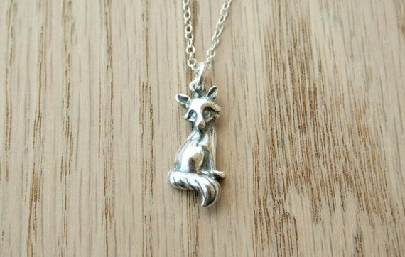 Miss Foxy - A Sterling Silver Necklace - simple cute animal jewelry
