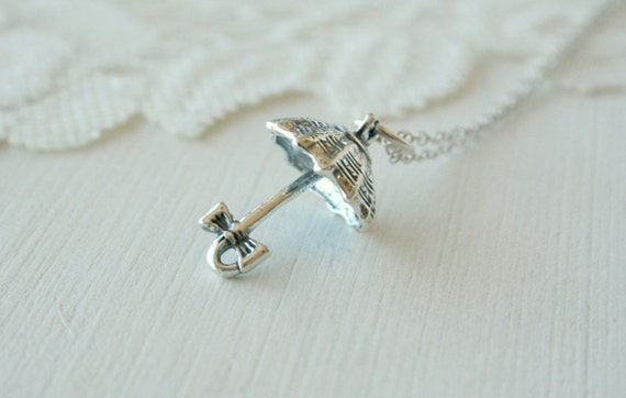 Sterling Silver Marry Popins Umbrella Necklace