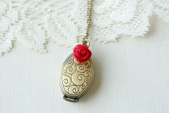 Many Memories - An Antique Brass Locket Necklace