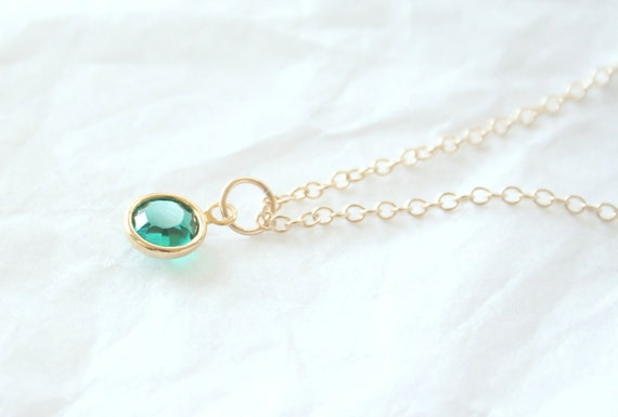Emerald Eyes - A Gold Filled Bracelet, everyday, simple, delicate, dainty, sweet, green jewelry