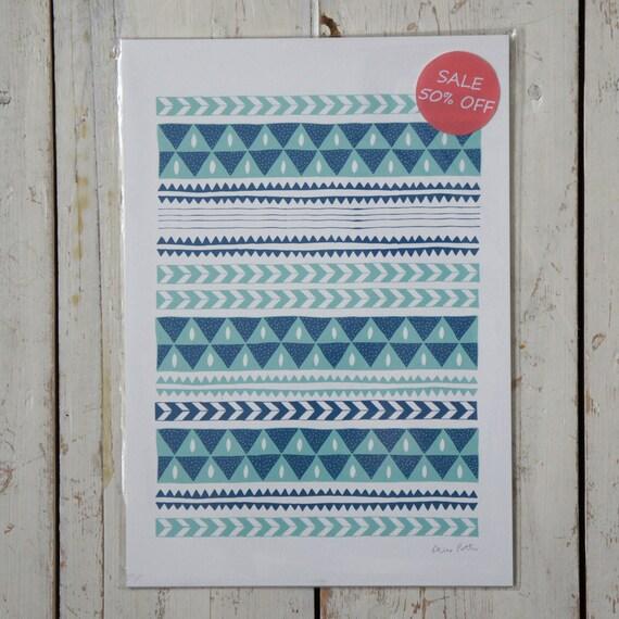 Half Price Winter Stripe Print Free UK Shipping.