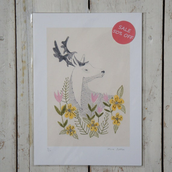Half Price Secret Deer Print Free UK Shipping.