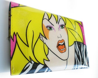 Jem and the Holograms Purse - Pizzazz from The Misfits - Recycled Book Page