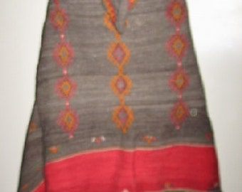 MINT Condition Hand Woven Moroccan Berber All WOOL Huge CAPE Hooded Antique Rare Ttribal Fantastic