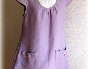 Violet Tunic  LINEN Eco Friendly Natural Matrial