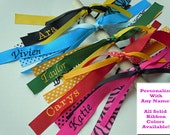 Monogrammed Ponytail Streamer FULLY CUSTOMIZABLE with your name and colors