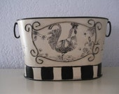 Decorative French  Rooster Tin