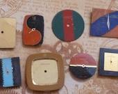 Steampunk- Lot of 8 Vintage Color Block Watch Dials
