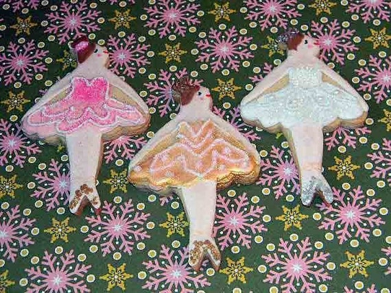 Ballerina Cookies- Beautiful and Delicious set- By The Cookie Couture on Etsy- 24 pieces