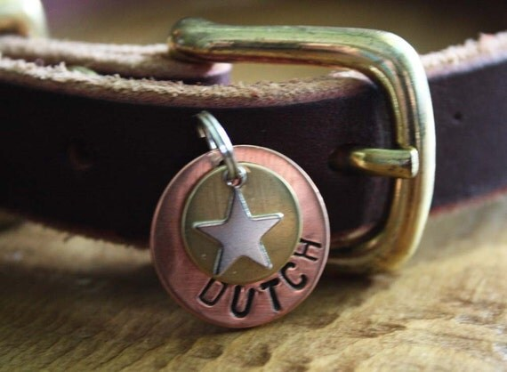 Small Star Personalized Dog ID Tag