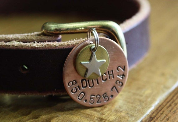 Large Star Personalized Dog ID Tag