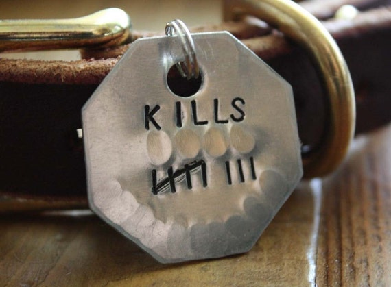 Large Kill Count Personalized Dog ID Tag