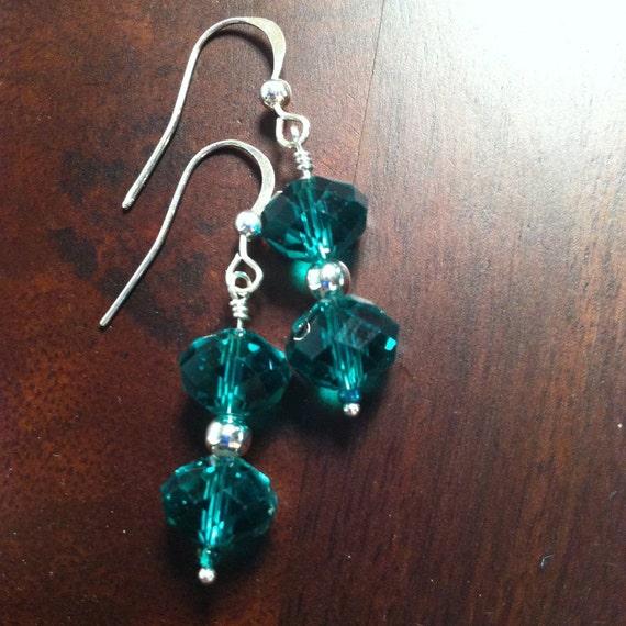 Chinese Crystal Earrings Greek Ocean