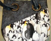 Penguin Black Grommet Purse/Bag