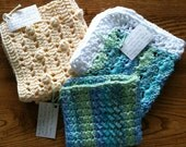 3 Crochet Dish Cloths