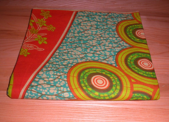 Premium African Wax Print Fabric - Isla del Sol - 1 yard