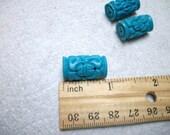 18mm Blue Turquoise Cinnabar 3pcs