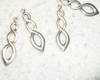 focal silver plated pewter infinity 5pcs