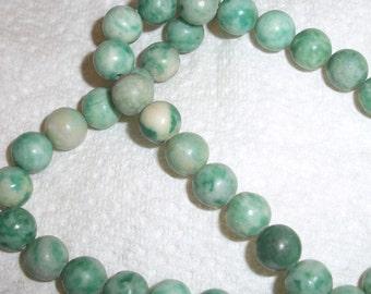 Ching Hai ,jade, natural, 8mm round,  full 15inch strand