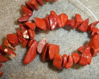 red jasper (natural), small chip, . Sold per 16-inch strand