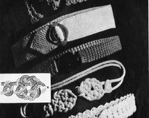1930s Fashion Belts Vintage Crochet Pattern PDF