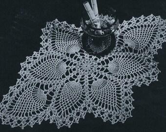 PDF Pineapple Centerpiece Doily Crochet Pattern, c. 1944
