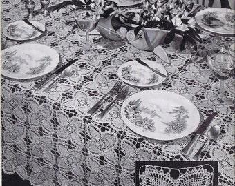 Tablecloth Pineapple Doily Vintage Crochet Pattern PDF, c. 1946