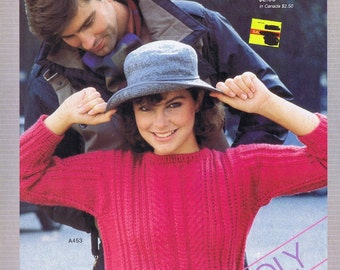 Unger Knitting and Crochet Pattern Book, c. 1984