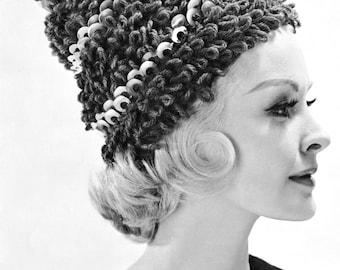 1960s Crocheted Loop Hat Vintage Crochet Pattern PDF