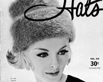 1960s Hi-Hat Knitted Hat Vintage Knitting Pattern PDF