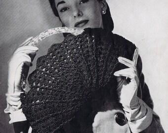 Large Crochet Purse Vintage Crochet Pattern PDF, c 1944