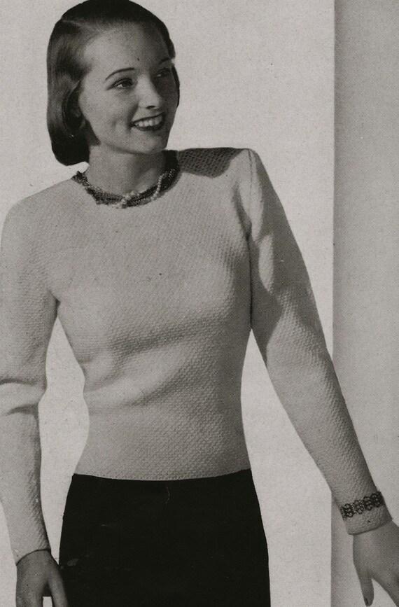 PDF of Womens Evening Sweater Knitting Pattern
