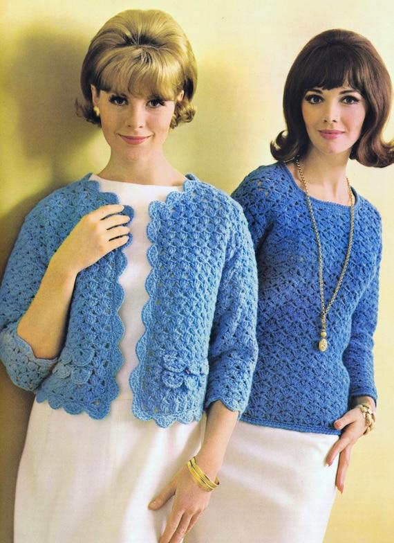 PDF of Minervas Shell Stitch Tunic Vintage Crochet Pattern, c. 1950s