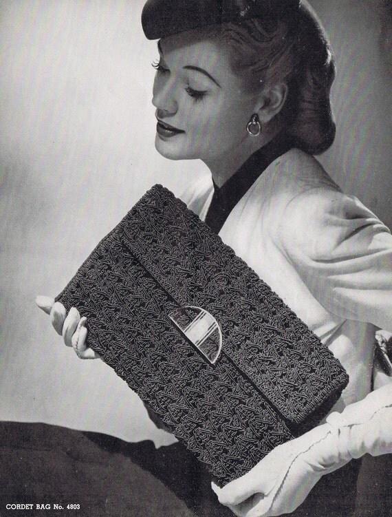 Crochet Clutch Vintage Crochet Pattern PDF, c 1944