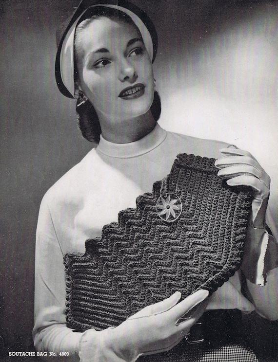 Vintage Crochet Clutch Pattern : Crochet Clutch Vintage Crochet Pattern PDF by VintagePatternPlace
