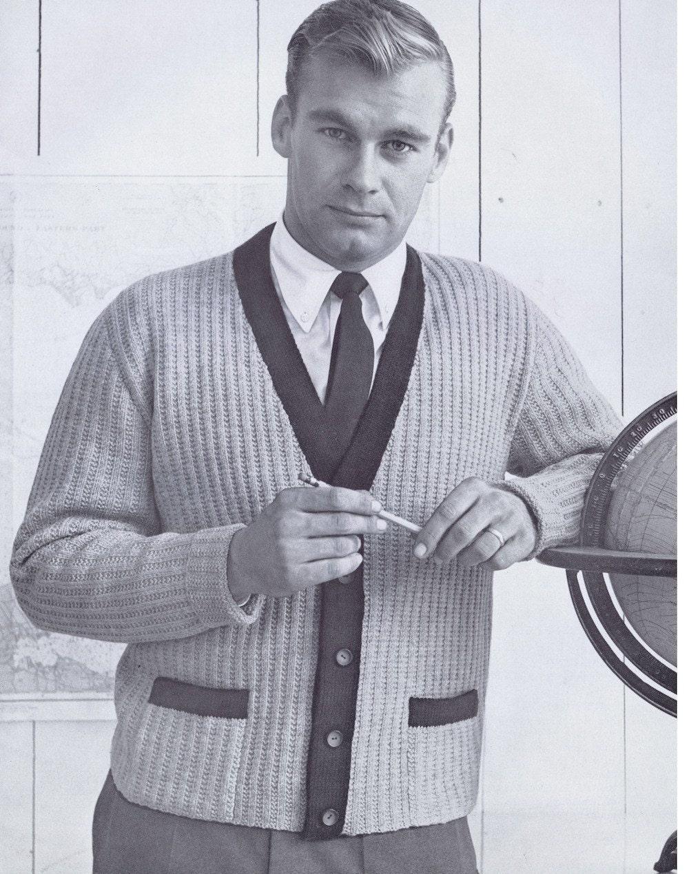 Mens 1950s fashion pdf of mens button down accent