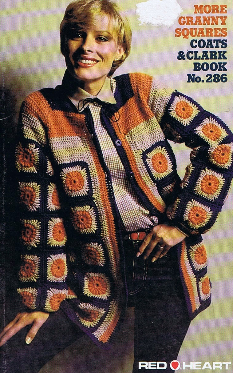 Granny Square Clothing Crochet Pattern Booklet