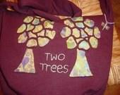 Two Trees Messenger Sweatshirt  Bag