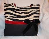 Zebra Tote Chenile Black and Cream GWP