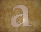 """Pink Vintage Letter A / small letter """"a"""" retro signage"""