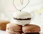 "CARD ""Macaron Love"" Original 6"" x 4"" Photograph on Heavy Card Stock. Macarons, Neutral, Love, Heart, Pastel."