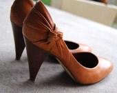 Tan, Brown Leather Heels
