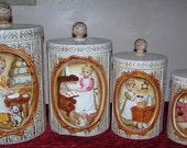 RESERVED FOR fairyspells2010  Mother in the Kitchen  Sears, Roebuck and Co. Cannister Set 1978