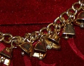Retro Vintage Jingle Bell Charm Bracelet 1960's