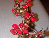 Vintage Retro Brass Christmas Jingle Bell Garland